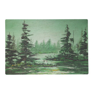 Place Mat Ann Hayes Painting Green Forest