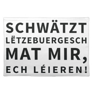 Place Mat for People who Learn Luxembourgish