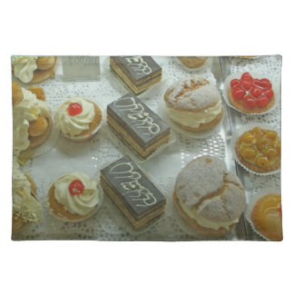 Place Mat, French Pastries # 2 Cloth Placemat