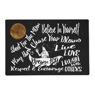 place mat Inspirational Quote Stars @ Night Dreams