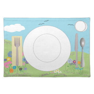Place mat with correct placement of stuff