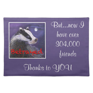 Place Mats - Never Forget the Badger Cull