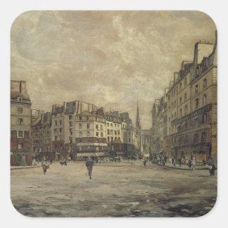 Place Maubert, Paris, 1888 Square Sticker
