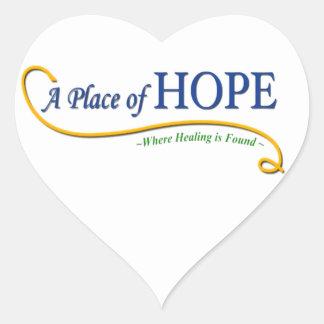 Place of Hope Logo Heart Sticker