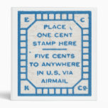 Place one cent stamp here binder