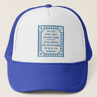 Place one cent stamp here hat baseball cap