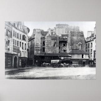 Place Saint-Andre-des-Arts, Paris, 1858-78 Poster