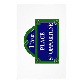 Place Sainte-Opportune Paris S Paris Street Sign Personalized Stationery