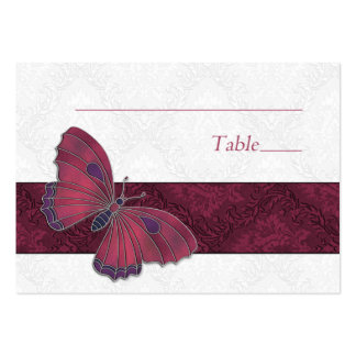 Place setting card Butterfly Brocade red Large Business Card