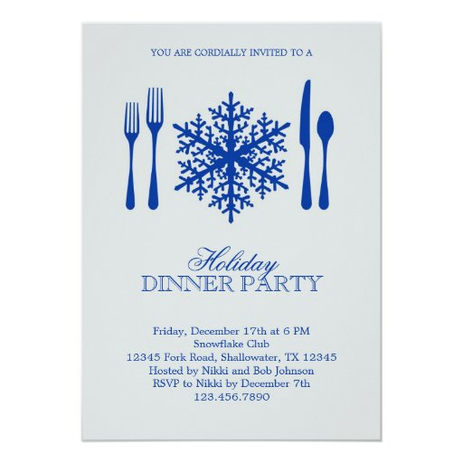 Place Setting Christmas Dinner Party Invitation Zazzle