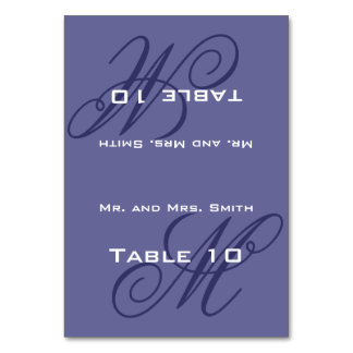 Place Setting Monogram Table Cards