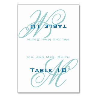 Place Setting Monogram Table Card