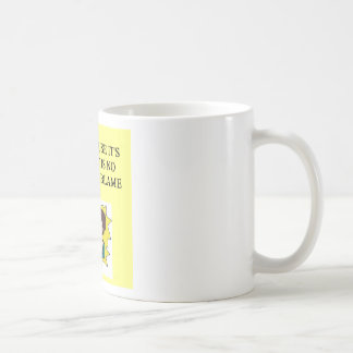 place the blame proverb classic white coffee mug