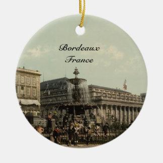 Place Tourny, Bordeaux, France Ceramic Ornament