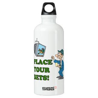 Place Your Bets Aluminum Water Bottle