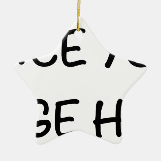 Place your image here ceramic star decoration