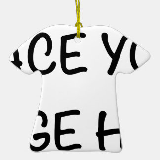 Place your image here ceramic T-Shirt decoration