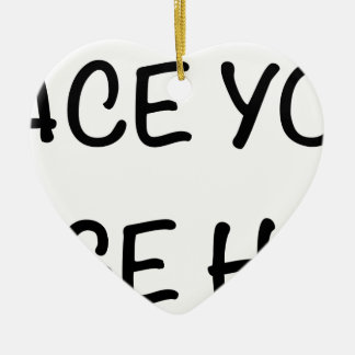 Place your image here ceramic heart decoration
