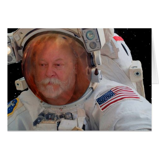 Place your photo in the Space suit Greeting Card