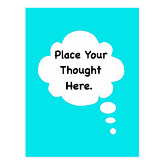 Place Your Thought Here Funny Humour Graphic Postcard