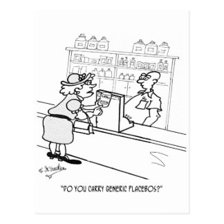 Placebo Cartoon 2861 Postcard