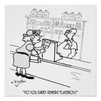 Placebo Cartoon 2861 Poster