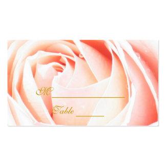Placecards color de rosa rosado elegante tarjetas de visita