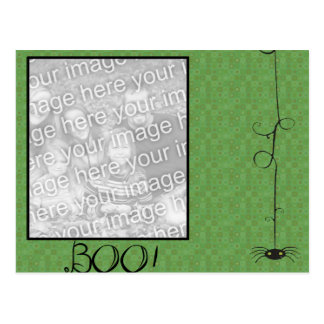 placeholder, boo spider frame post card