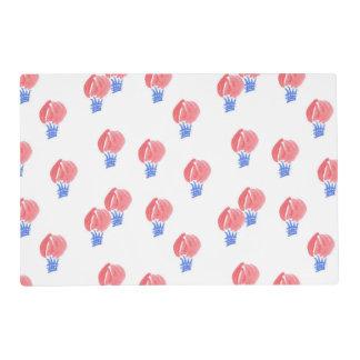 """Placemat 12"""" x18"""" con los balones de aire tapete individual"""