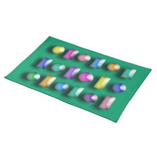 Placemat - 3D Buttons Cloth Place Mat