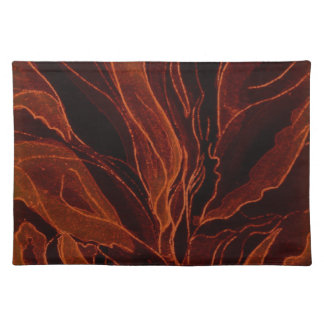 Placemat--Abstract Fallen Leaves Cloth Placemat