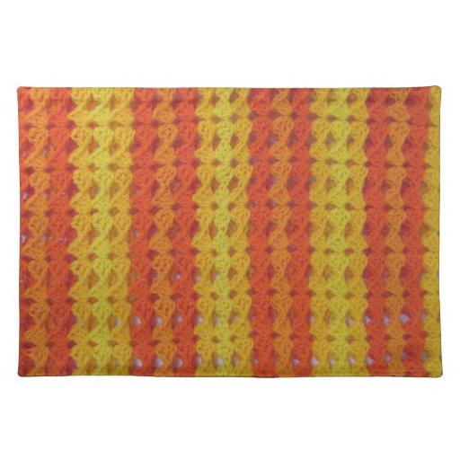 Placemat - afgano anaranjado mantel