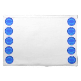 Placemat - Blue Dots on Borders Cloth Placemat