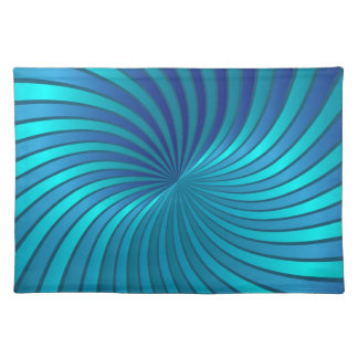 Placemat blue spiral vortex cloth placemat