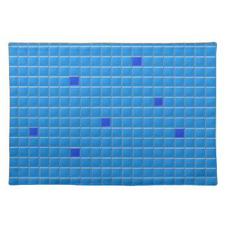 Placemat - Blue Square Mosaic Cloth Placemat
