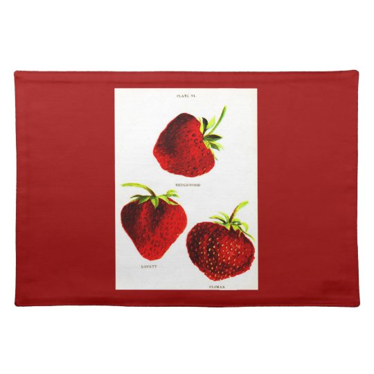 Placemat-Botanicals-Strawberries Placemat