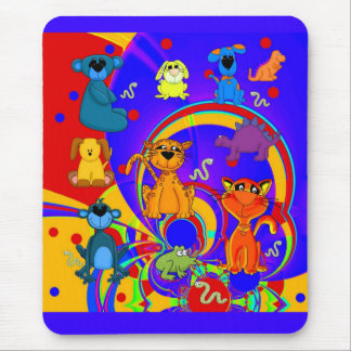 Placemat Boys Kid's Animals Collage Mouse Pad