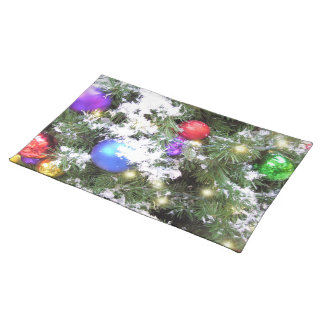 Placemat - Christmas Glow & Faux Snow