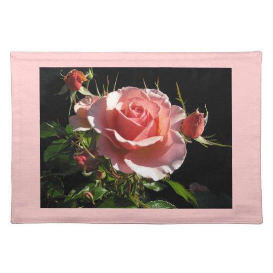 Placemat color de rosa coralino mantel