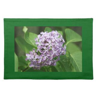 placemat con la foto de lilas púrpuras hermosas manteles individuales