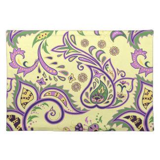 Placemat con los modelos decorativos florales mantel individual