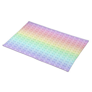 Placemat - costura del arco iris mantel