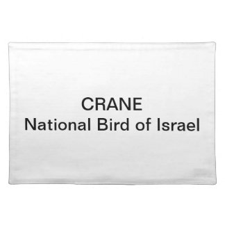 "PLACEMAT - Crane"" National Bird of Israel"