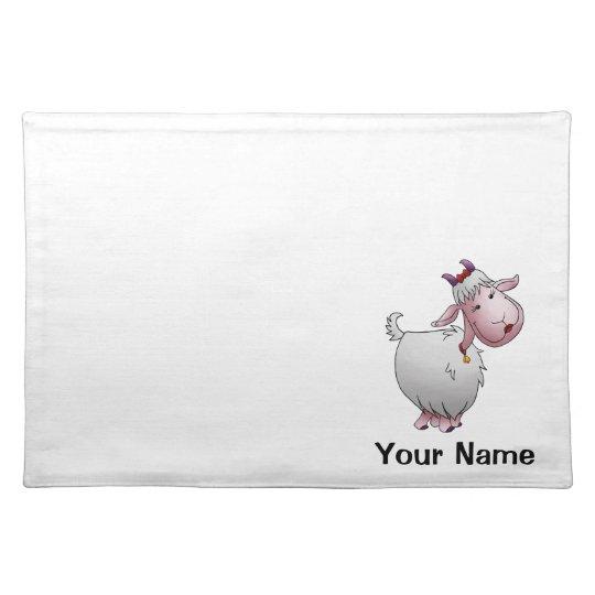 Placemat, Cute Goat Cartoon, Name Template Placemat