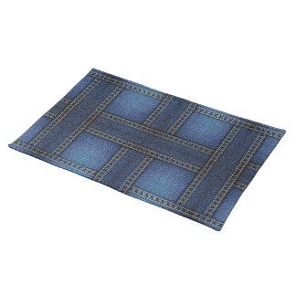 placemat de la armadura del dril de algodón mantel individual