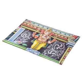 Placemat de la estatua de dios de Ganesha Mantel Individual