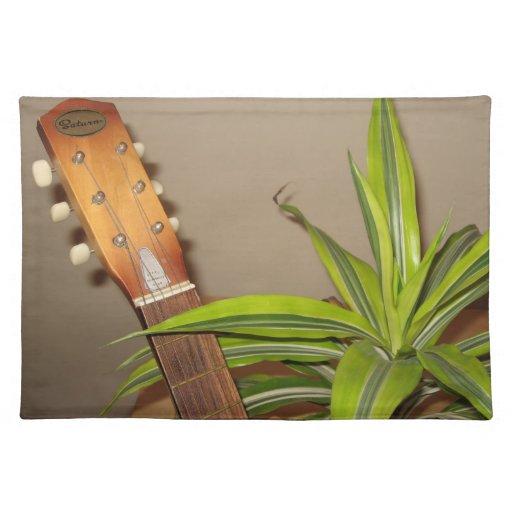 Placemat de la guitarra acústica manteles