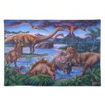 Placemat de los dinosaurios manteles