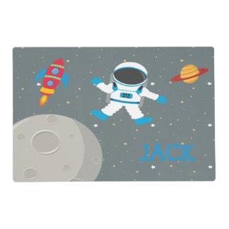 Placemat de los niños del astronauta salvamanteles