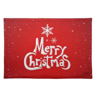 Placemat del día de fiesta de las Felices Navidad Manteles Individuales